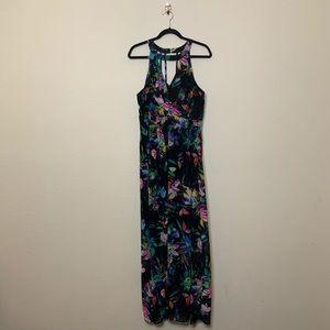 City Chic Floral Blast Strap Halter Maxi Dress